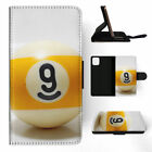 IPHONE X XR XS MAX FLIP CASE WALLET COVER SNOOKER POOL TABLE BALLS 8 $10.31 USD on eBay