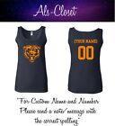 Chicago Bears Logo Football Womans Sleeveless Tank Top Shirt with Custom Name $27.99 USD on eBay