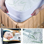 BAMBOO Mattress Protector Waterproof Soft Hypoallergenic Fitted Cover Pad Sizes image