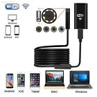 For Android iPhone WIFI Endoscope Waterproof Borescope Inspection Camera 6 LED