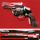 "40W""x29H"" GUNS, 1982 by ANDY WARHOL - FIREARM CONTROL WEAPON CHOICES of CANVAS"