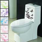 Home Style Butterfly Flower Toilet Seat Sticker Bathroom Wall Art Animal Uk