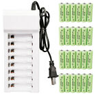700mAh AA NiCd Ni-MH Rechargeable Batteries Pack Kit + 8 Channel Battery Charger