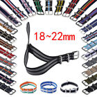 18/20/22mm Universal Military Nylon stripe Wrist Watch Band Buckle Straps image