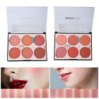 6 Color Blusher Powder Palette Long Lasting Soft Face Cosmetic Makeup Waterproof