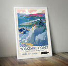 A4 Vintage Travel York Yorkshire Scarborough Yorkshire Dales Posters