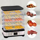 5 Tier Food Dehydrator Machine Professional Electric Fruit Beef Jerky Preserver