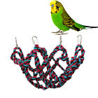 1PC Durable Grid Bird Parrot Rope Hammock Swing Hanging Cage Nets Toys for Daily