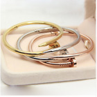 C Nail Cuff Love Bracelet - silver, gold, rose for men and women