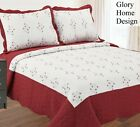 Embroidery Quilted Bedspread Set - 3 Piece - Diana by Glory Home Design image