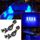 2/4/8PCS Blue LED Lights Waterproof Boat Outrigger Spreader Transom Marine Dock image