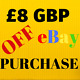 £8 GBP DISCOUNT ON ANY EBAY PURCHASE perfume edt edp handbag clutch voucher gift photo