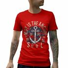 A066B Mens T-Shirt Hope Is The Anchor Navy Of My Soul Nautical Summer Vintage Re