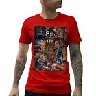 A801B Mens T-Shirt 8th Avenue NYC Art New York City Abstract Traffic Metropolis