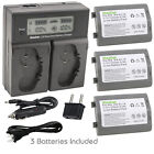 Kastar Battery LCD Fast Charger for Original Nikon Genuine MH-26 MH-26a MH-26b