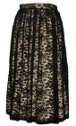 Womens Skirt Lace Primark Midi Skater Knee Length Nude Beige Lining Party £16