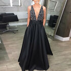 Women Formal Maxi Dress Prom Evening Party Cocktail Bridesmaid Wedding Ball Gown