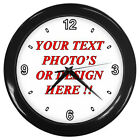 Hot New Personalized Custom Your Logo Design Photo text 2 Wall Clock