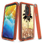 For LG Stylo 5 / Stylo 5+  3in1 Hybird Graphic Designed Quicksand Glitter Case