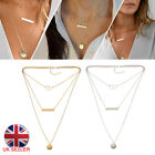 Infinity Layered Silver Gold Necklace With Disc And Bar Uk Seller 2018