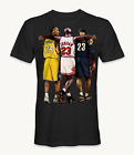 Kobe Bryant, Michael Jordan, and Lebron James t-shirt