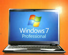 New Windows 7 Professional SP1 64 or 32 Bit Full Version Disc COA & Pro DVD Key