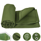 Multi-size Canvas Tarp Green Cotton Tarpaulin Firewood Lumber Construction