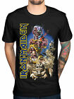 Official Iron Maiden T Shirt Somewhere Back in Time Black Classic Rock...