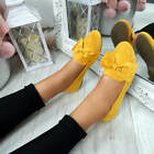 WOMENS LADIES BOW BALLERINA SLIP ON PUMPS FLAT BALLET SUMMER SHOES SIZE