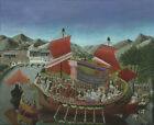 Canvas Printed Oil Painting Wall André Bauchant Cleopatra's Barge Multi Sizes