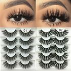 3D Faux Mink Hair Soft False Fluffy Wispy Thick Eyelashes 5 Pairs 2 Styles