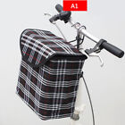 Bike Basket Front Bicycle Cycle Folded Canvas Shopping Holder Pet Carrier Bags