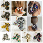 Kyпить Solid Floral Bow Scrunchie Hair Band Elastic Hair Ties Rope Scarf Accessories на еВаy.соm