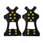 10-Stud Universal Anti Slip Ice Crampons Snow Climbing Spike Grips Shoes Cover