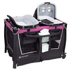 Infant Pink Travel System Baby Stroller Car Seat with Base Playard Chair Bag Set
