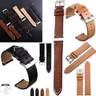 18 20 22mm Quick Release Leather Watch Band Wrist Strap For Fossil Smart Watches image