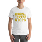 Premium Football Graphic Training Workout Short-Sleeve T-Shirt USA