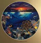 "Christian Riese Lassen Art Print 8"" x 8"" Round with Gold Border Landscape Sea"