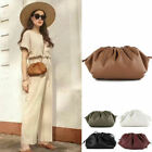 2 Sz/ Small Large Real Leather Clutch Pouch Clip on Shoulder Bag Crossbody Purse