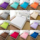 Brushed Microfiber Fitted Sheet Bed Sheets Set Bedding Ultra Soft Hypoallergenic image