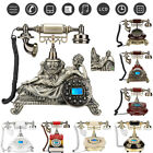 Retro Vintage Antique Corded Telephone Dial Desktop Phone Home Decor Classical