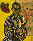 Art HD Print Oil Famous Painting Joan Miró Portrait of Enric Cristòfol Ricart