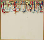 Art HD Print Oil Famous Painting Jim Dine Five Feet of Colorful Tools Wall Decor