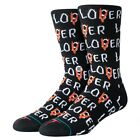 Stance NEW Men's IT Lover Loser Socks - Black BNWT