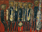 Art HD Print Oil Famous Painting Jean Dubuffet Grand Jazz Band Home Wall Decor