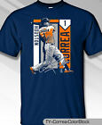 Houston Astros MLBPA CARLOS CORREA #1 Color Block Men's S/S Tee Shirt Navy on Ebay