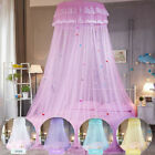 Newest Lace Mosquito Netting Mesh Bed Canopy Princess Round Dome Bedding Net image