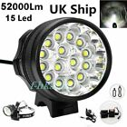 52000Lm 15x LED Cree XML Waterproof T6 Bicycle Bike Light Cycling Headlight Lamp <br/> 2-3 Days delivery/ Delivery to EU/  Two Year Warranty