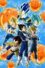 Dragon Ball Super DBZ Evolution of Vegeta Majin SSJ 1 2 Blue Posters A4 A3 A2 A1