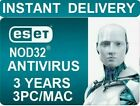 2019 ESET NOD32 Antivirus 2019 -3 Computers 3 years - Instant Key via Email